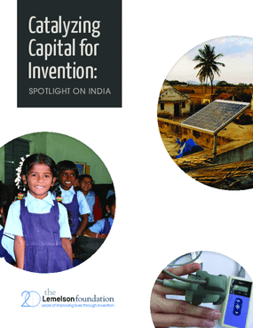Catalyzing Capital for Invention: Spotlight on India