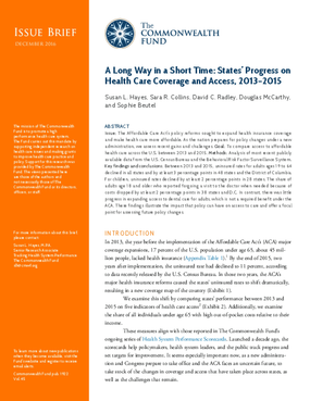 A Long Way in a Short Time: States' Progress on Health Care Coverage and Access, 2013-2015