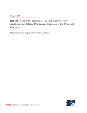 Report to the New York City Housing Authority on Applying and Lifting Permanent Exclusions for Criminal Conduct