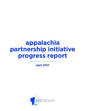 Appalachia Partnership Initiative Progress Report