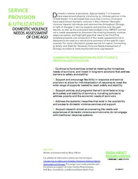 Factsheet: Service Use (DV Landscape)