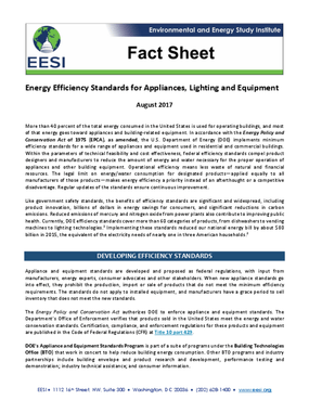 Fact Sheet: Energy Efficiency Standards for Appliances, Lighting and Equipment (2017)