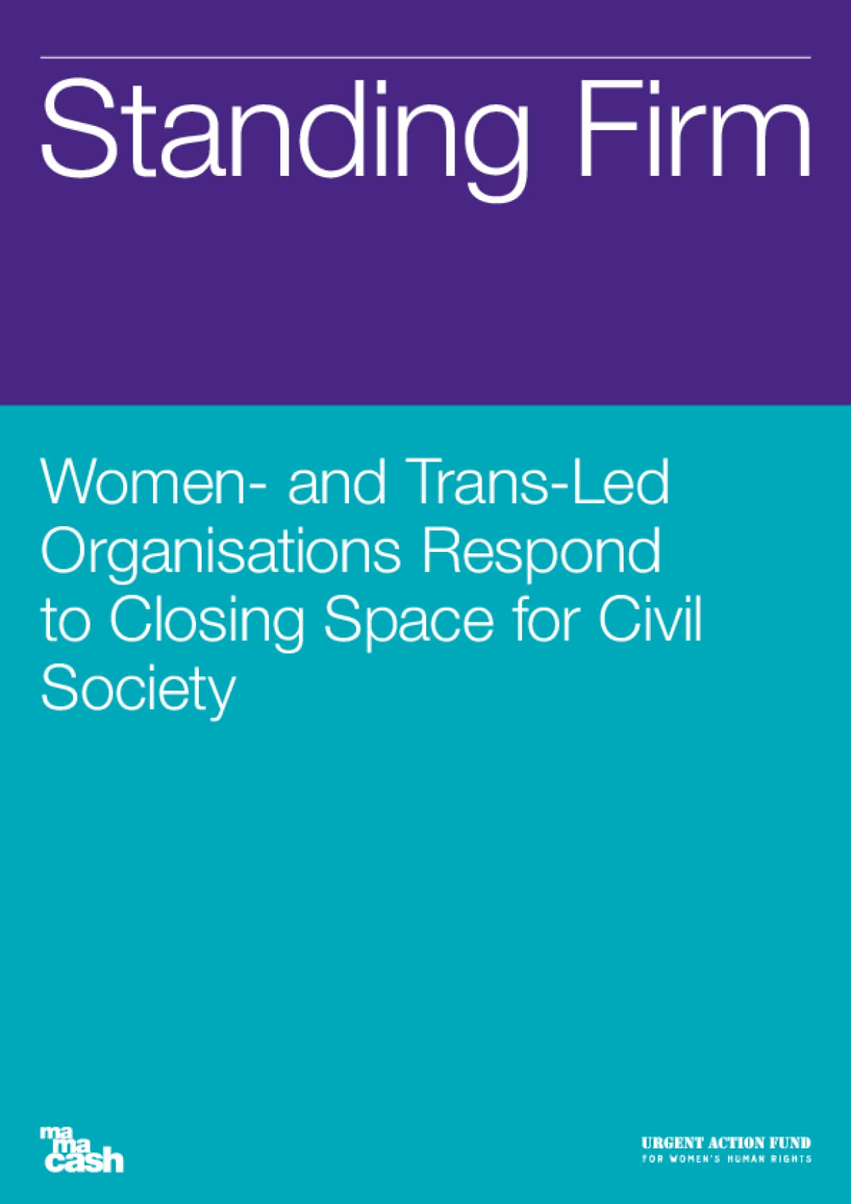 Standing Firm: Women- and Trans-Led Organisations Respond to Closing Space for Civil Society