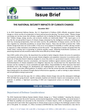 The National Security Impacts of Climate Change