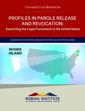 Profiles in Parole Release and Revocation Rhode Island