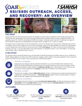 SSI/SSDI Outreach, Access, and Recovery: An Overview