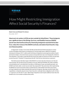How Might Restricting Immigration Affect Social Security's Finances?