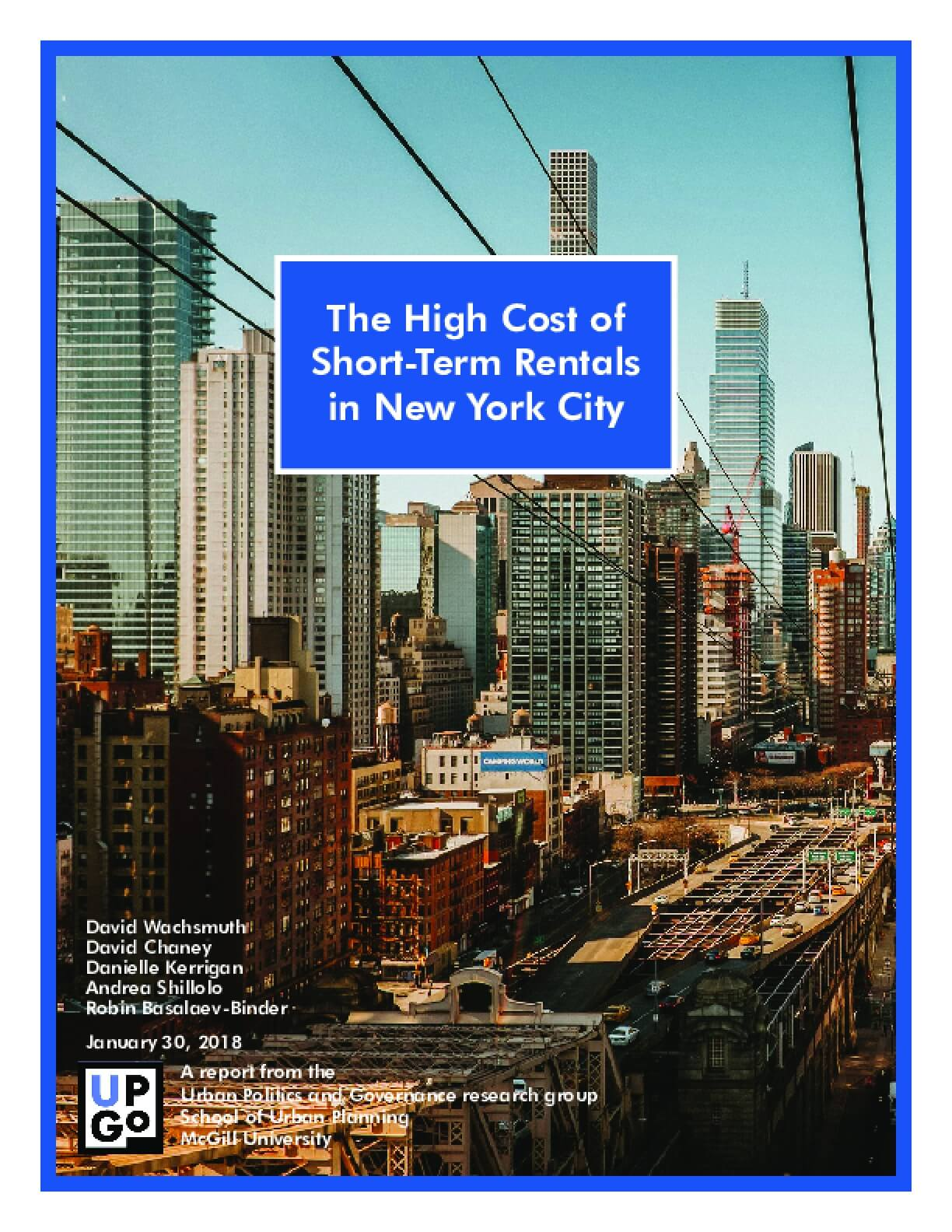 The High Cost of Short-Term Rental in New York City