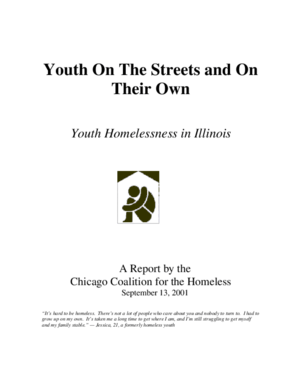 Youth On the Streets and On Their Own: Youth Homelessness in Illinois