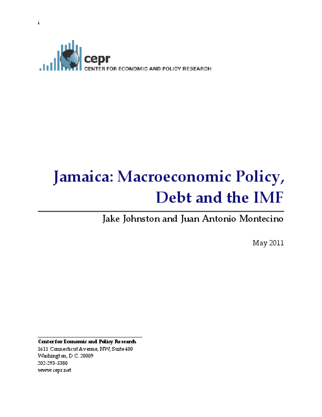 Jamaica: Macroeconomic Policy, Debt and the IMF