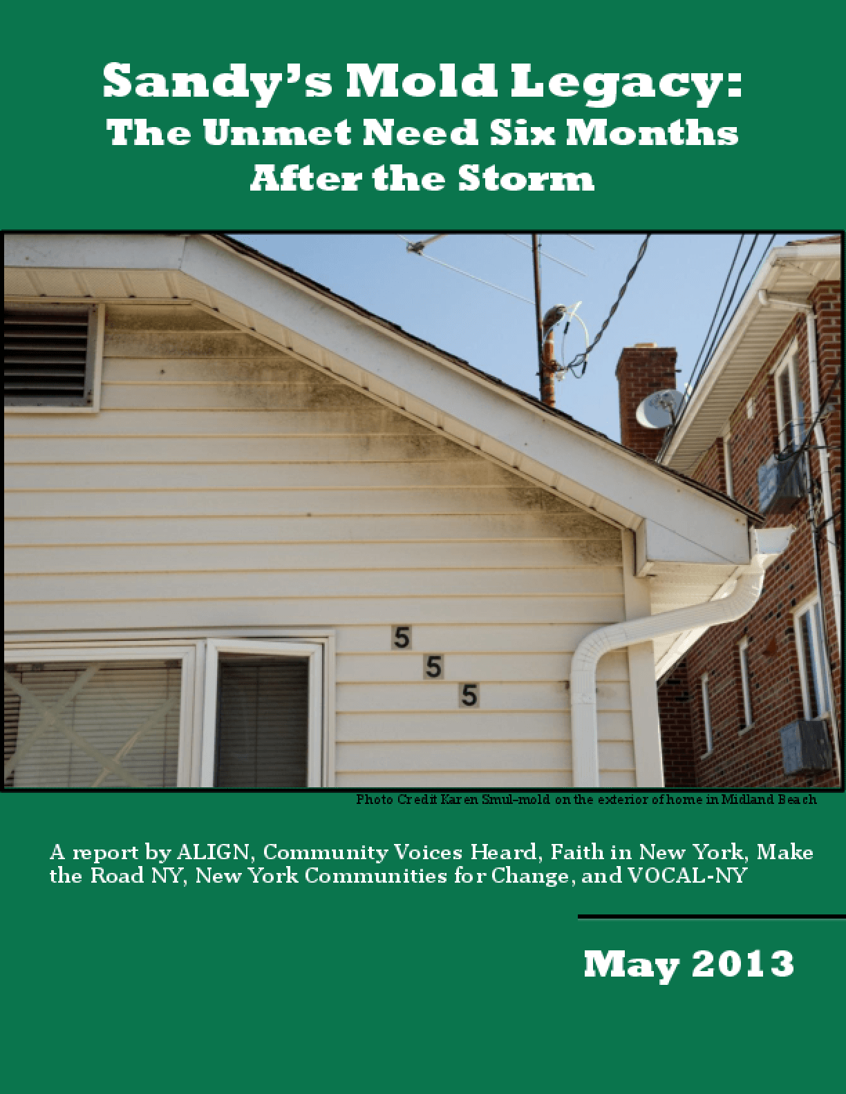 Sandy's Mold Legacy: The Unmet Need Six Months After the Storm
