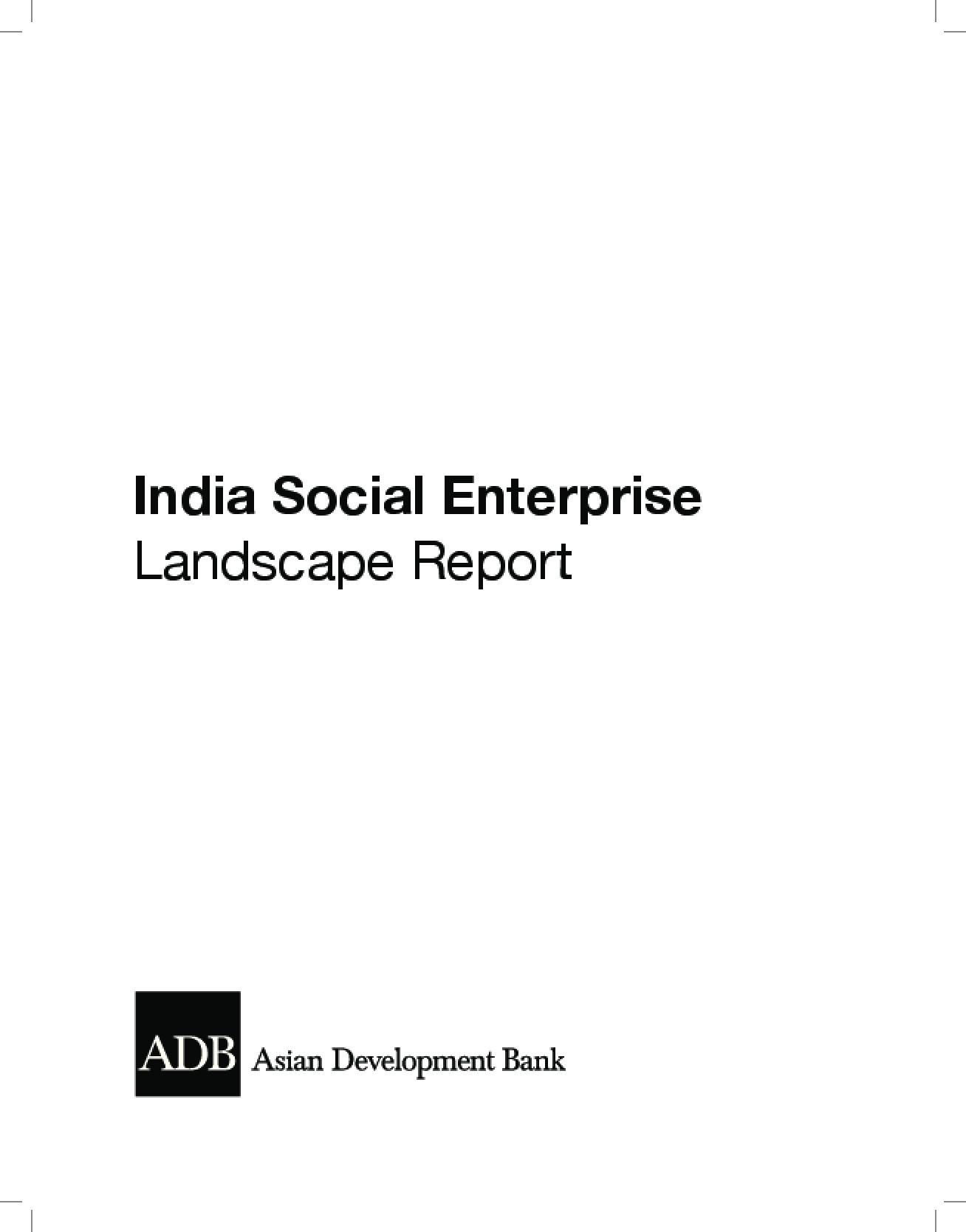 India Social Enterprise Landscape Report
