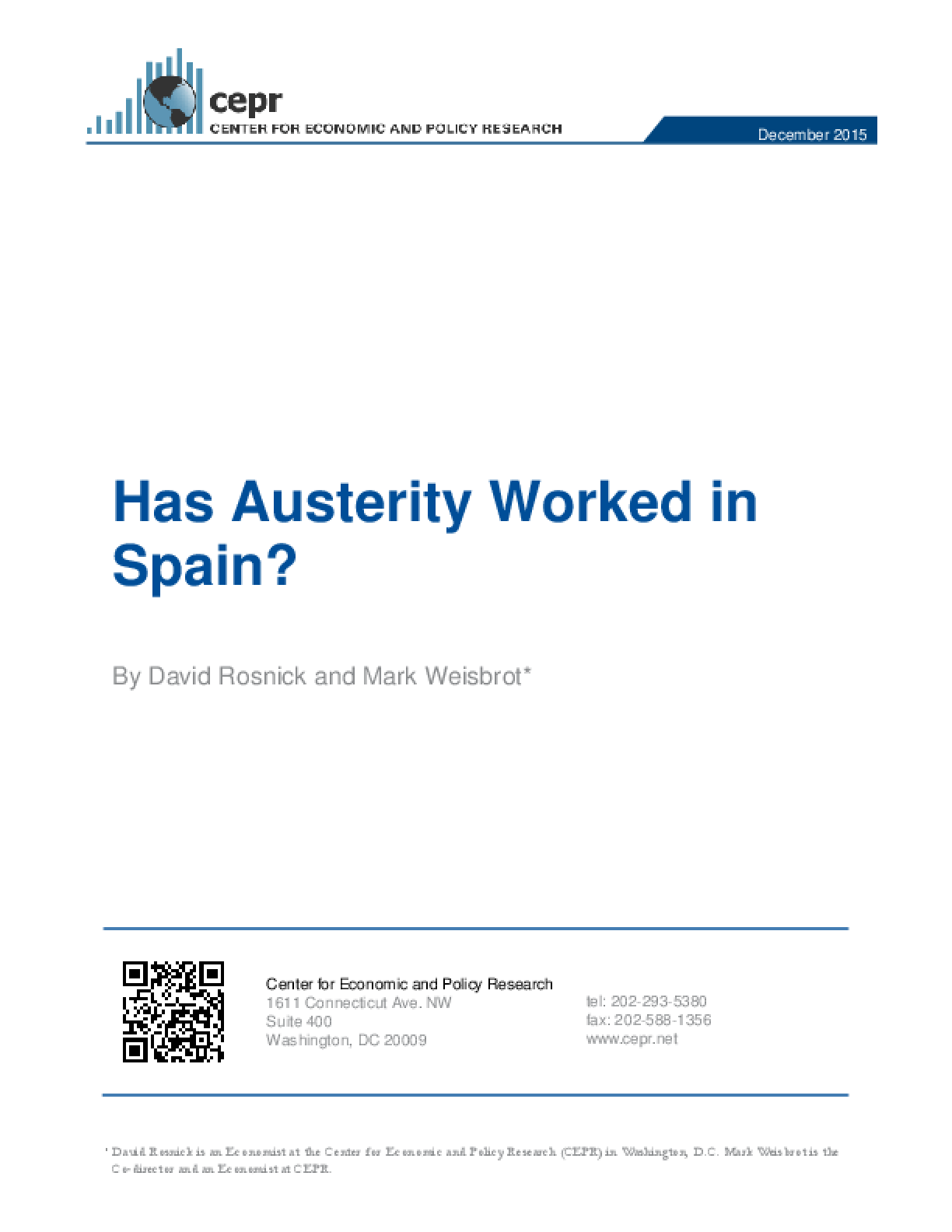 Has Austerity Worked in Spain?