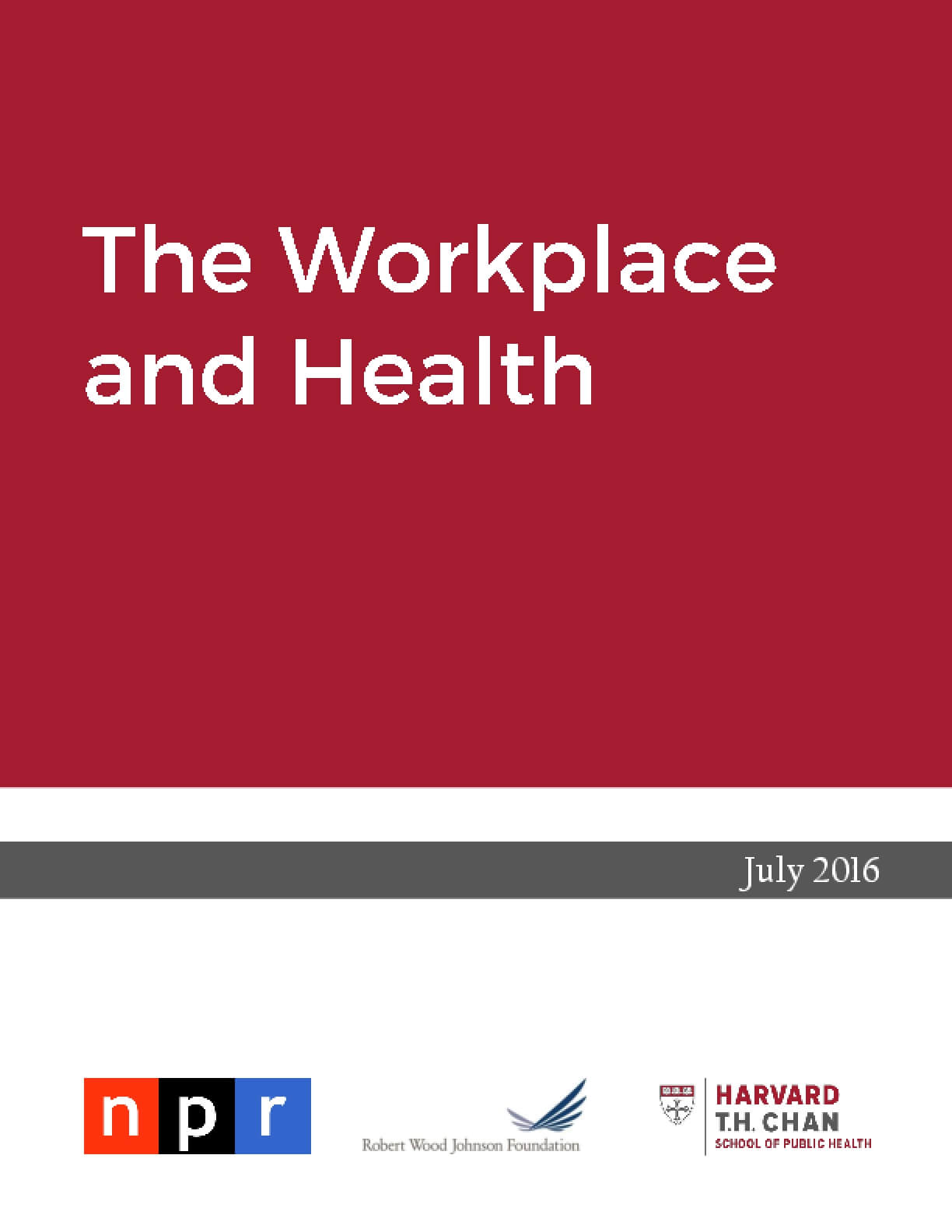 The Workplace and Health