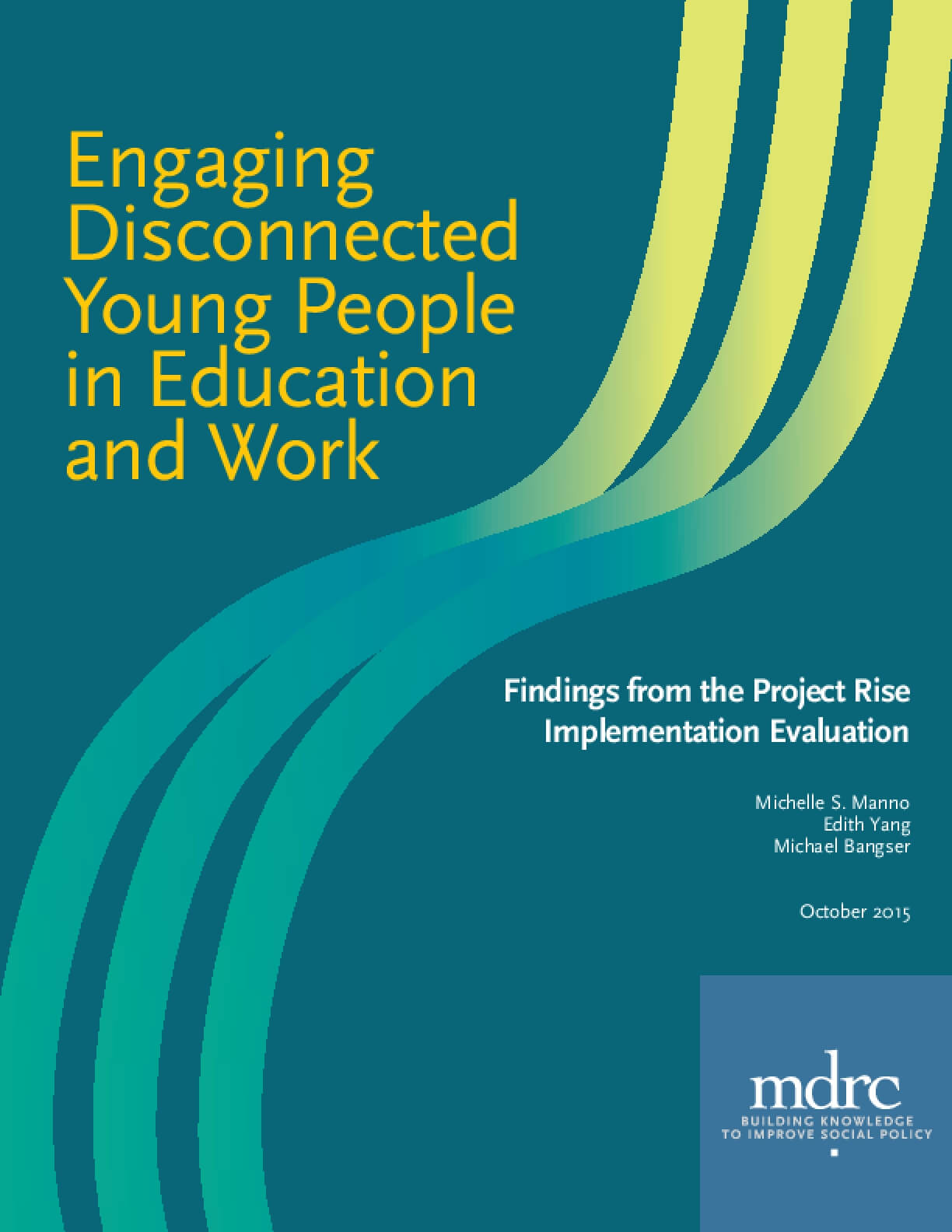 Engaging Disconnected Young People in Education and Work
