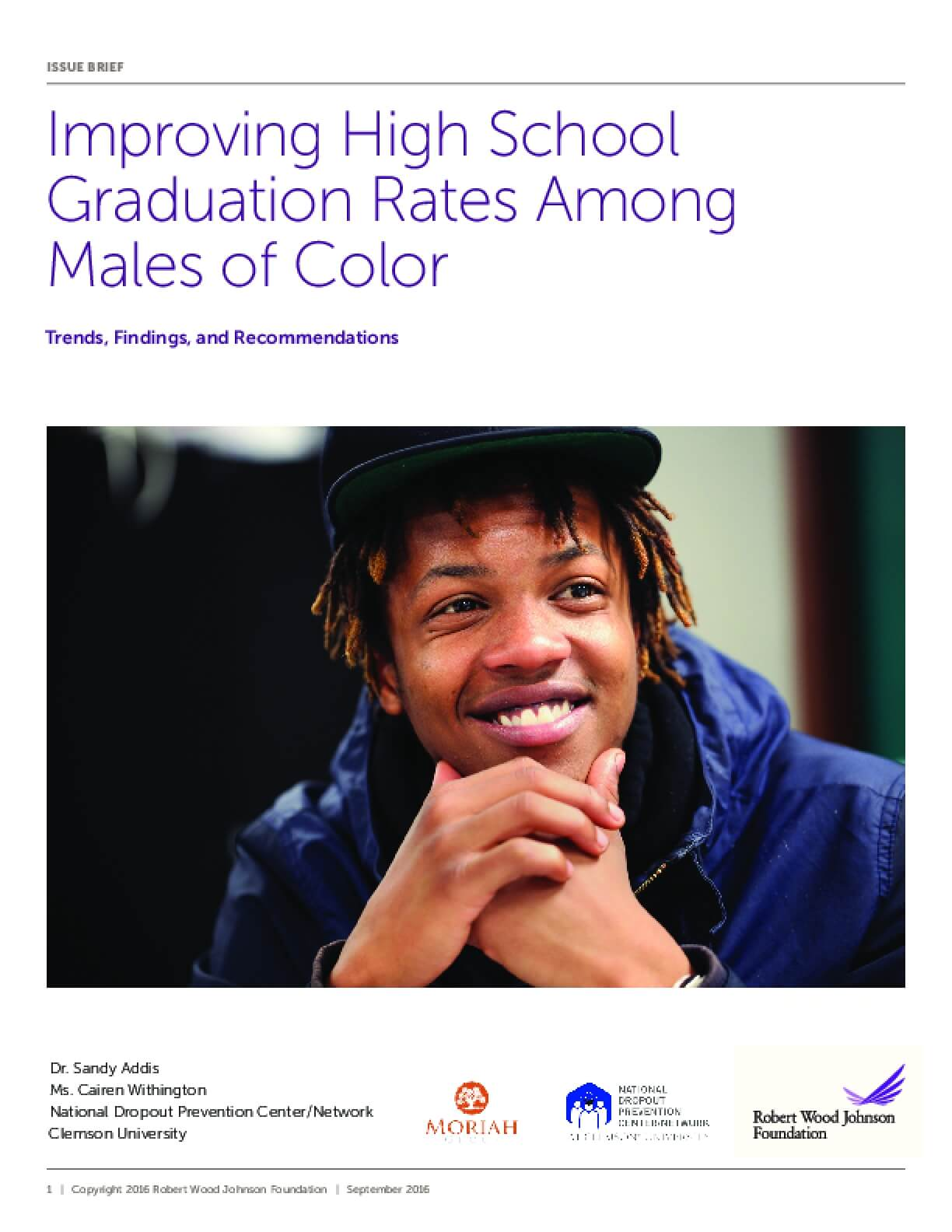 Improving High School Graduation Rates Among Males of Color