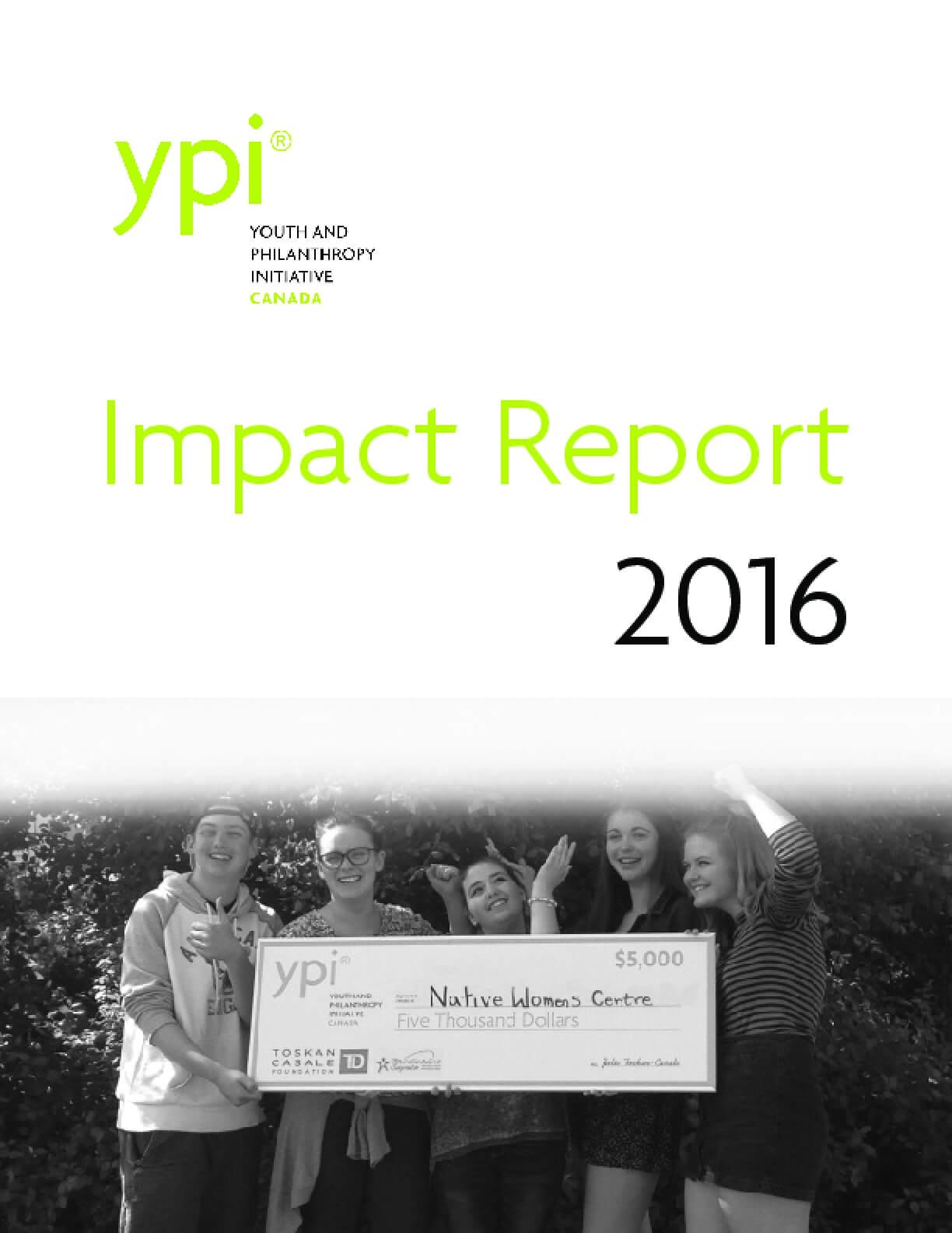 YPI Canada Impact Report 2016