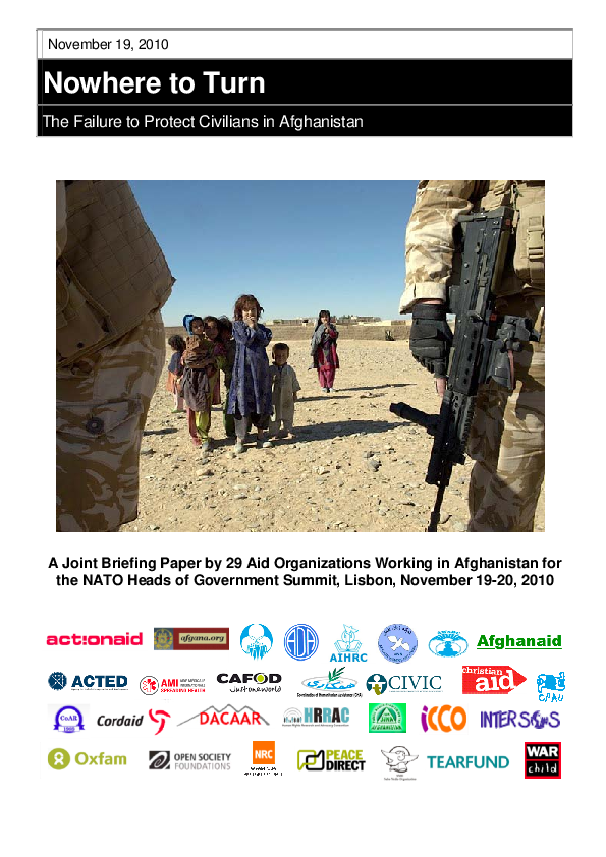 Nowhere to Turn: The failure to protect civilians in Afghanistan
