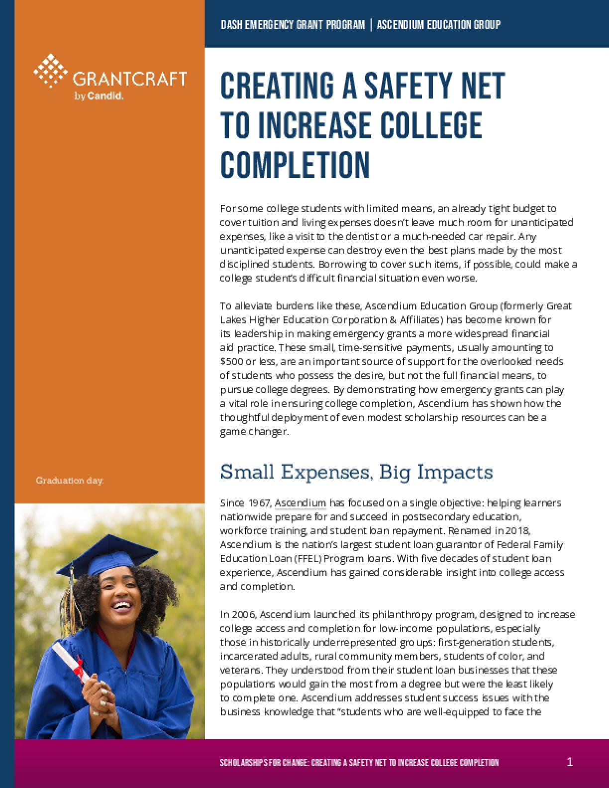 Creating a Safety Net to Increase College Completion