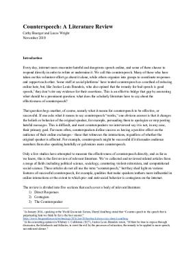 Counterspeech: A Literature Review