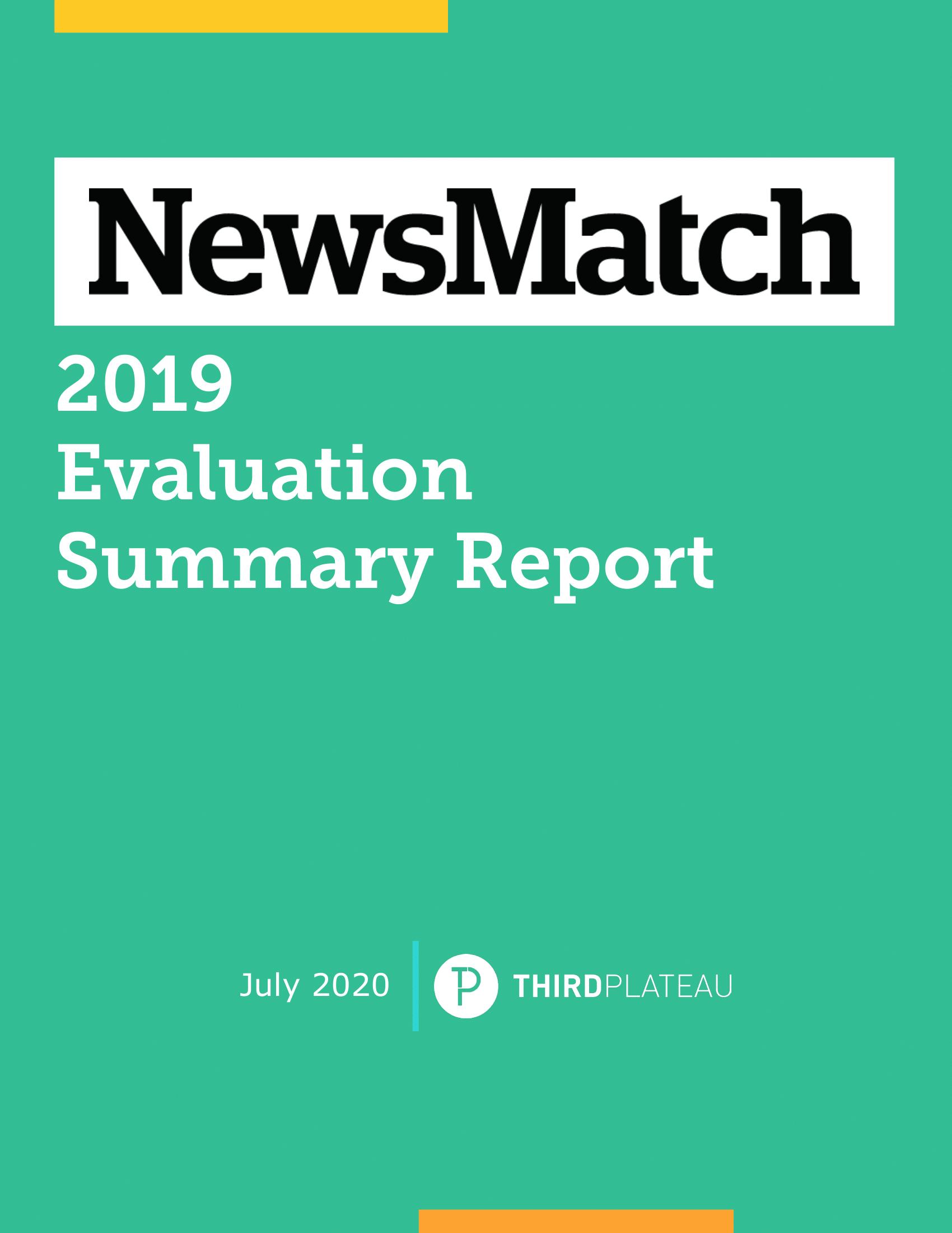 NewsMatch 2019 Evaluation Summary Report