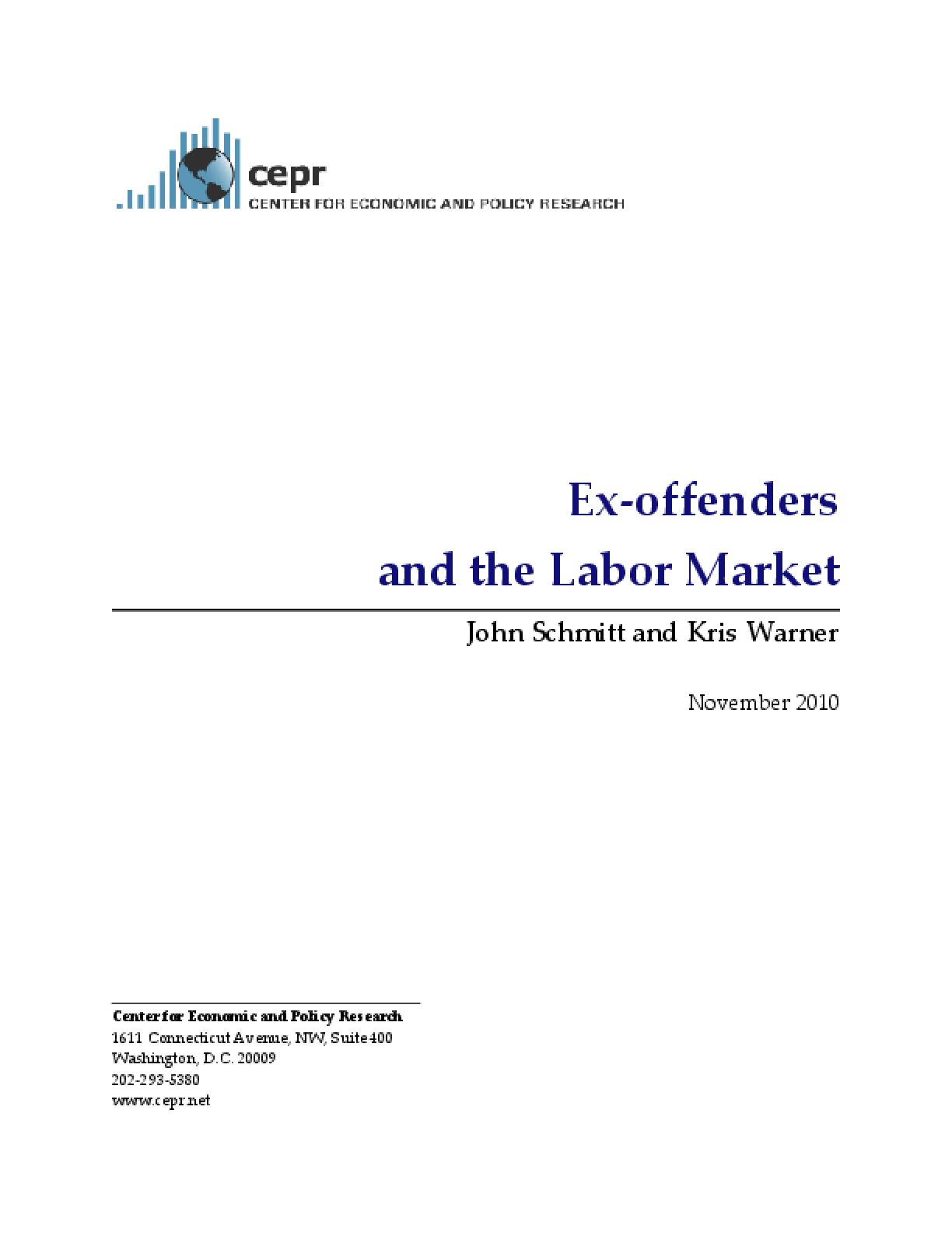 Ex-Offenders and the Labor Market