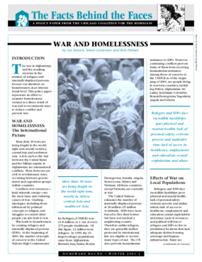 War and Homelessness