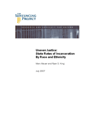 Uneven Justice: State Rates of Incarceration by Race and Ethnicity